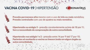 Conheça os critérios para vacinação contra o coronavírus para os pacientes com hipertensão - Estão surgindo dúvidas sobre os critérios para vacinação contra o coronavírus para os pacientes com hipertensão. A hipertensão é uma das doenças mais comuns do Brasil. Por isso, nós preparamos uma reportagem para explicar os diferentes estágios da doença e quem pode receber a vacina.
