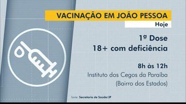 João Pessoa vacina contra a Covid-19 profissionais da educação e pessoas com deficiência - Vacinação vai acontecer em ginásios, em áreas para drive thru e no Instituto dos Cegos da Paraíba.
