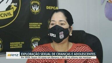 Delegada do AM faz alerta sobre casos de exploração sexual de crianças e adolescentes - Em 2020, foram 44 caos em Manaus e 88% das vítimas são meninas.