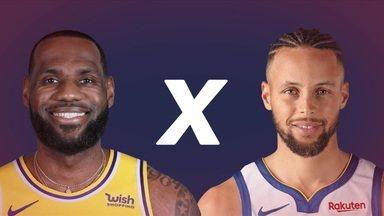 Stephen Curry e Lebron James se enfrentam no play-in da NBA - Stephen Curry e Lebron James se enfrentam no play-in da NBA