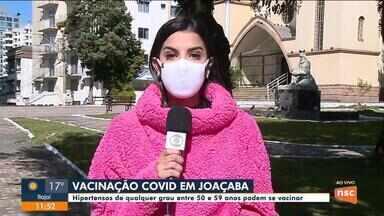 Joaçaba vacina hipertensos entre 50 e 59 anos contra a Covid - Joaçaba vacina hipertensos entre 50 e 59 anos contra a Covid