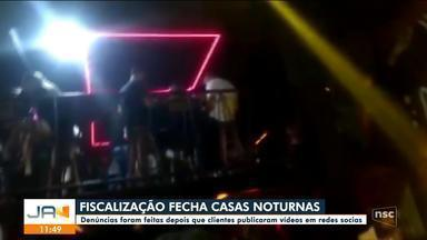 Casas noturnas são interditadas em Florianópolis após aglomerações - Casas noturnas são interditadas em Florianópolis após aglomerações