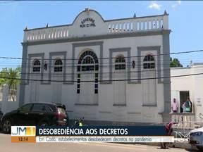 Em Codó, estalecimentos desobedecem decretos na pandemia - O município já registrou 171 mortes por Covid-19.