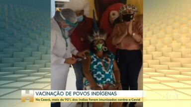 Ceará já vacinou mais de 90% de sua população indígena contra a Covid - Povos indígenas fazem parte dos grupos prioritários do Plano Nacional de Imunização na pandemia