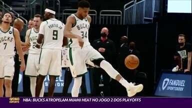 Giannis Antetokounmpo lidera Bucks em vitória sobre Heat - Giannis Antetokounmpo lidera Bucks em vitória sobre Heat
