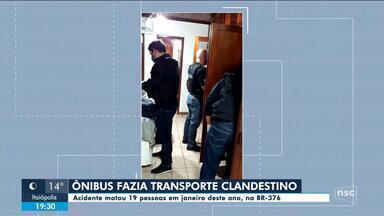 Polícia Civil cumpre mandados de busca sobre acidente de ônibus no PR - Polícia Civil cumpre mandados de busca sobre acidente de ônibus no PR