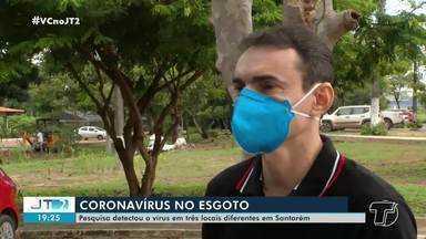 Pesquisa detecta presença do novo coronavírus em 3 pontos diferentes no esgoto de Santarém - Veja mais detalhes na reportagem.