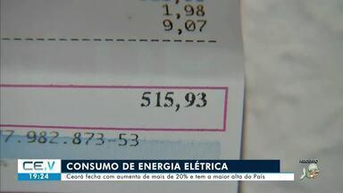 Ceará tem maior alta do país em consumo de energia - Confira mais notícias em g1.globo.com/ce