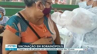Rorainópolis inicia vacinação contra Covid de pessoas acima de 18 anos com comorbidades - Até o momento, mais de 230 pessoas com comorbidades já foram vacinadas.