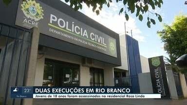 Dois homens são mortos em bairro de Rio Branco na noite dessa segunda-feira (24) - Dois homens são mortos em bairro de Rio Branco na noite dessa segunda-feira (24)