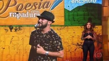 Fátima Bernardes deseja melhoras para Bráulio Bessa - Poeta está internado com Covid-19 e tem quadro estável