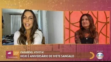 Ivete Sangalo comemora aniversário com o 'Encontro' - Cantora fala sobre o projeto 'Panela Cheia Salva' contra a fome no Brasil e é homenageada por mães que receberam ajuda durante a pandemia