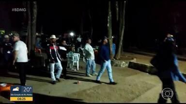 Festa clandestina em Ribeirão das Neves - Aglomeração ocorreu num sítio, depois de uma cavalgada. O responsável foi detido.