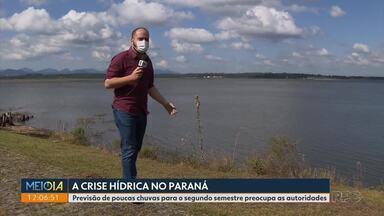 Falta de chuvas deve agravar a crise hídrica no Paraná no segundo semestre - Órgãos responsáveis já emitiram alerta