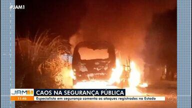 Especialista em segurança pública comenta ataques registrados no Amazonas - Guilherme Sette fala sobre o assunto.