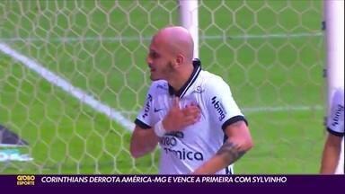 Corinthians derrota América-MG e vence a primeira com Sylvinho - Corinthians derrota América-MG e vence a primeira com Sylvinho