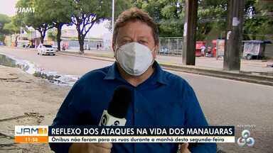 IMMU ainda estuda quais ônibus devem voltar a rodar em Manaus - Veículos não foram para as ruas durante a manhã desta segunda-feira.