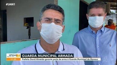 Prefeitura de Manaus garante porte de arma para guarda municipal - David Almeida fez anuncio após ataques na cidade.