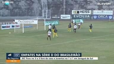 JEC e Jaraguá empatam na estreia do Campeonato Brasileiro - JEC e Jaraguá empatam na estreia do Campeonato Brasileiro