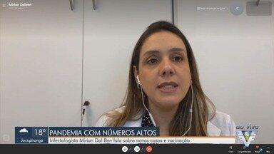 Infectologista fala sobre novos casos e vacinação contra a Covid-19 - Mirian Dal Ben atua no Hospital Sírio Libanês, na capital paulista.