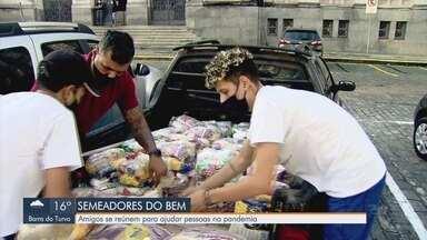 Amigos se reúnem para ajudar pessoas na pandemia na Baixada Santista - Participantes criaram o grupo Semeadores do Bem.