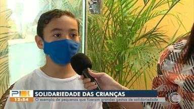 Crianças realizam grandes gestos de solidariedade durante a pandemia - Crianças realizam grandes gestos de solidariedade durante a pandemia