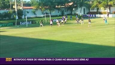 Botafogo-PB perde de virada para o Ceará, no Brasileirão Feminino Série A2 - Duelo aconteceu na Cidade Vozão, em Fortaleza