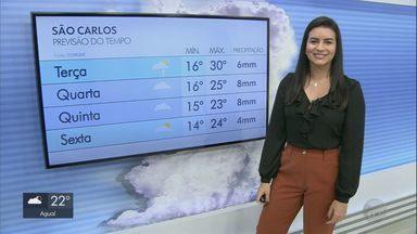Confira a previsão do tempo para a terça-feira (8) em São Carlos e região - Confira a previsão do tempo para a terça-feira (8) em São Carlos e região.