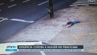 Homem tenta matar ex-mulher e troca tiros com a polícia em Piracicaba - Agressor foi baleado e encaminhado ao hospital.