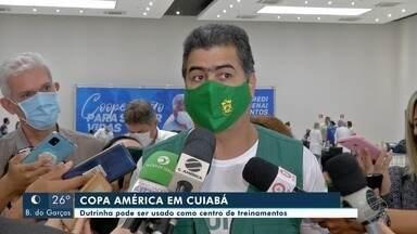 Representantes da Conmebol estão em Cuiabá para preparativos para a Copa América - Representantes da Conmebol estão em Cuiabá para preparativos para a Copa América.