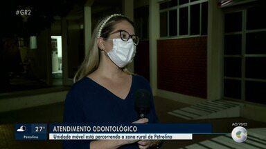 Unidade Móvel Odontológica atenderá 20 localidades da zona rural de Petrolina em junho - Os atendimentos acontecem sempre a partir das 8h e é voltado para usuários das Unidades de Saúde da Família (USFs).