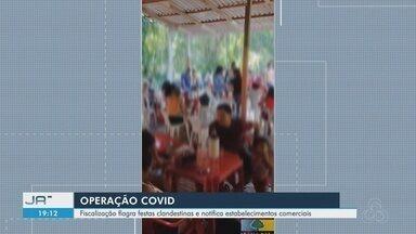 Fiscalização flagra festas clandestinas e notifica estabelecimentos comerciais em Macapá - Fiscalização flagra festas clandestinas e notifica estabelecimentos comerciais