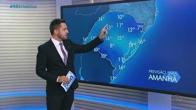 Previsão é de chuva e temperaturas amenas no RS nesta terça (8) - Assista ao vídeo.