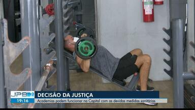 Academias podem funcionar em João Pessoa com a adoção de protocolos sanitários - Após decisão da Justiça.