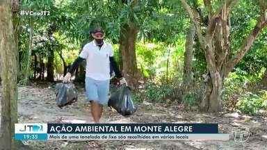 Ação ambiental em Monte Alegre recolhe mais de uma tonelada de lixo - Dois bairros foram alvos da ação.