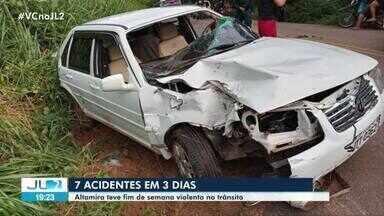 Altamira registra vários acidentes no fim de semana - Duas pessoas morreram em colisão envolvendo adolescente de 16 anos.