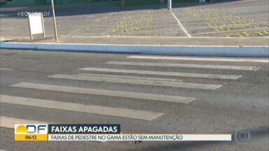 Pessoas com deficiência não encontram acessibilidade em Águas Claras - Faixas de pedestre no Gama estão sem manutenção.