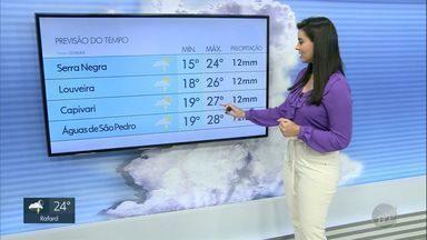 Confira a previsão do tempo para quinta-feira (10) na região de Campinas - Veja também as imagens enviadas pelos telespectadores por meio da hashtag #OlhaIssoEPTV.