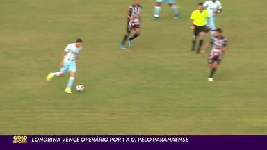 Londrina sai na frente do Operário na semifinal do Paranaense - Tubarão venceu o jogo de ida nesta quarta-feira (9), no estádio do Café
