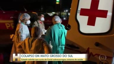 Mato Grosso do Sul admite colapso do sistema de saúde e segue transferindo pacientes - Pandemia de Covid-19 sobrecarregou hospitais; governo anunciou adoção de novas medidas restritivas para tentar conter avanço da doença