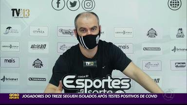 Covid-19 no Treze: jogadores positivados seguem isolados - Confira a entrevista do médico do clube alvinegro
