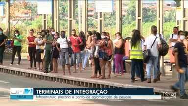 Terminais de Integração em São Luís seguem com infraestrutura precária - Local também tem sido ponto de aglomeração de pessoas.