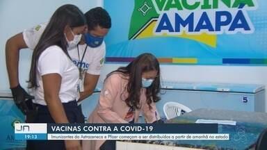 Amapá recebe novo lote com 44,2 mil doses de AstraZeneca e 8,1 mil doses da Pfizer - Amapá recebe novo lote com 44,2 mil doses de AstraZeneca e 8,1 mil doses da Pfizer