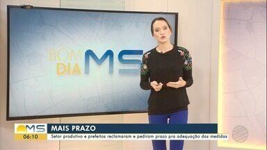 Medidas mais restritivas em 43 municípios de MS começam no domingo (13) - Mudança no decreto, após avaliação do programa Prosseguir, atende a pedidos das prefeituras.