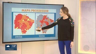 Mapas do Prosseguir: comparativo entre as duas divulgações do governo - Mapas do Prosseguir: comparativo entre as duas divulgações do governo.