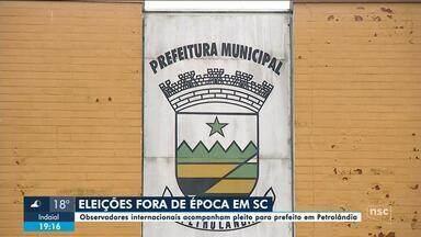 Observadores internacionais acompanham eleição em Petrolândia - Observadores internacionais acompanham eleição em Petrolândia