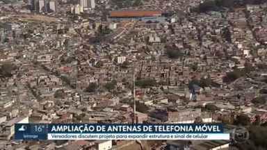 Vereadores discutem a implantação de novas antenas de telefonia móvel na capital - Com a expansão, principalmente na periferia, a qualidade do serviço pode melhorar.
