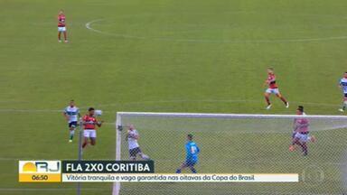 Dominante, Flamengo se classifica na Copa do Brasil - Placar de 2 x 0 diante do Coritiba mostra a força do elenco e classifica o rubro-negro para as oitavas de final da competição; já o Vasco perdeu em casa na Série B