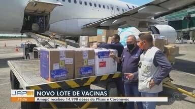Amapá recebe novo lote com 14.990 doses da Pfizer e da CoronaVac - Amapá recebe novo lote com 14.990 doses da Pfizer e da CoronaVac