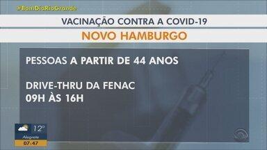 Vacina contra Covid: veja quem pode ser vacinado na Região Metropolitana de Porto Alegre - Confira quem pode receber as doses nesta quarta-feira (23).